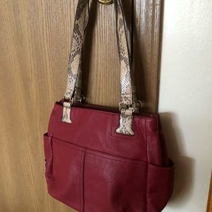 Tignanello Red shoulder bag. LIKE NEW!!!